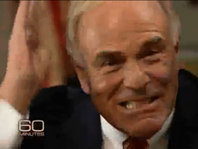 "Gov. Rendell bares his teeth and karate-chops the air as he tells ""60 Minutes,"" ""You guys don´t get that!"" during an interview about casinos that will air Jan. 9."