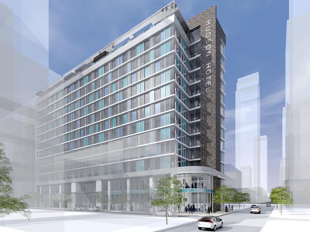 Plans advance for 310 room hotel at 17th chancellor for Small hotel building design