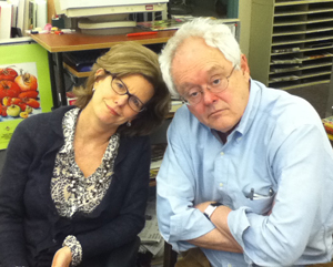 Rick Nichols with Inquirer food editor Maureen Fitzgerald.