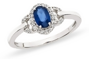 For Kate Middleton Wannabees. This $110 diamond and sapphire-like ring is just $110 and available at www.ice.com