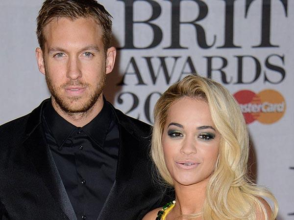 Calvin Harris,Rita Ora, The Brit Awards (Brit´s) 2014 held at the O2 - Arrivals. (Joe/WENN.com)