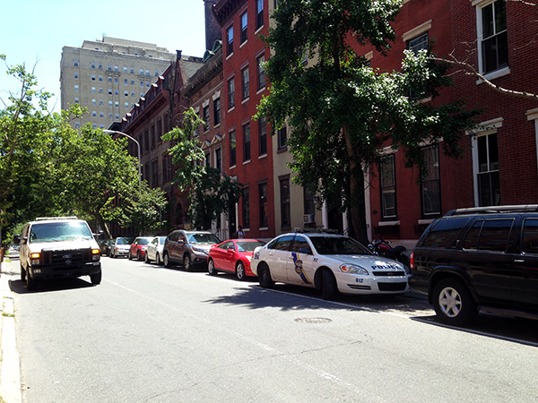 Police were on the scene of a home invasion and rape in Rittenhouse Square on Saturday, June 21, 2014.