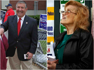 City Councilman Frank Rizzo (left) and City Commission Chairwoman Marge Tartaglione (right) both lost their primary races for reelection, primarily because of their participation in the Deferred Retirement Option Plan. Yet, Council is still trying to keep the DROP perk, which was initially designed to benefit city workers.