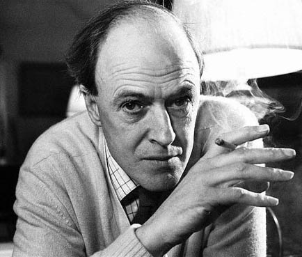 Roald Dahl contemplates giants.