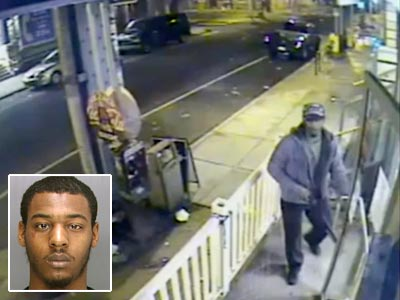 "Police say the man in a surveillance video that captured the murder of a Northern Liberties store clerk is Quasheam Richburg, 20, of North Philadelphia. He is sought by police. Watch the surveillance video <a href=""http://www.philly.com/philly/video/122714179.html""><b>here</b>.</a> (www.phillypolice.com)"