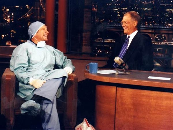 Robin Williams on ´The Late Show,´ as presented in David Letterman´s tribute to the late comic. (Photo via CBS)