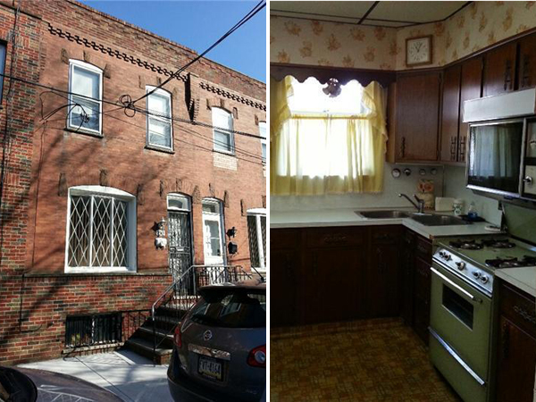 Images of the home Rocky Balboa buys in the movie Rocky II. The South Philadelphia rowhouse is now on the market. For more photos, see alpharealtygroup.com. (Courtesy of Alpha Realty Group)