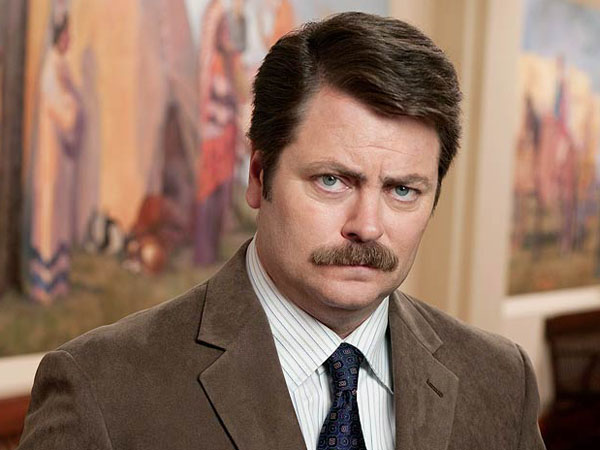 Nick Offerman plays Ron Swanson on NBC´s ´Parks and Recreation´ (Photo: NBC/Mitchell Haaseth)
