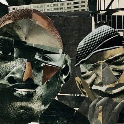 The ´And Then You Shoot Your Cousin...´ album cover, taken from Romare Bearden´s ´Pittsburgh Memory.´