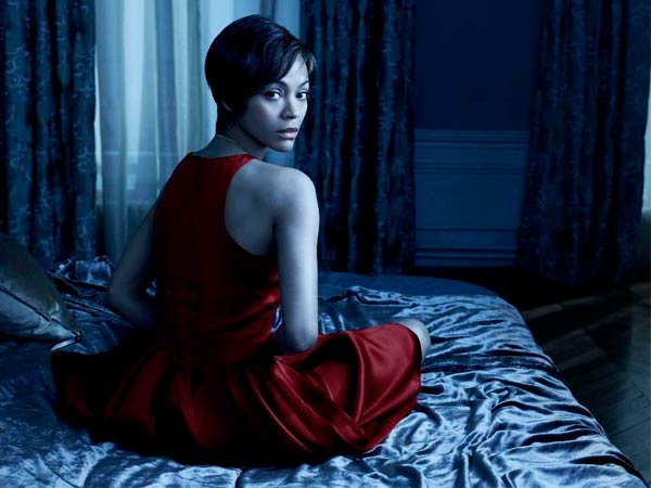 "In NBC´s remake of ""Rosemary´s Baby,"" Zoe Saldana is Rosemary, the role played by Mia Farrow in the 1968 film. Saldana gives a captivating performance as the unwitting host."