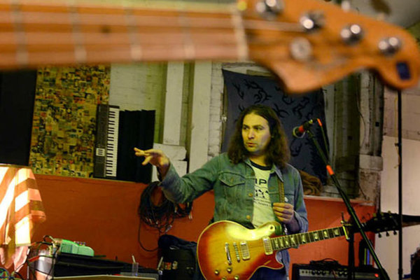 """Adam Granduciel of The War on Drugs rehearsing in Kensington in 2014. Their single """"Thinking Of A Place"""" goes on sale as a Record Store Day exclusive on Saturday."""