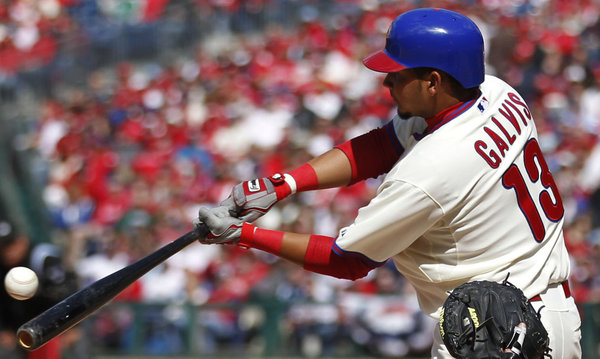 Galvis connects for his first major league hit  ( AP )