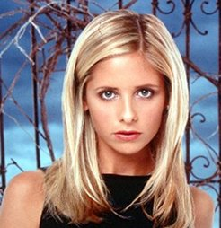 "Sarah-Michelle Gellar in her ""Buffy"" days."