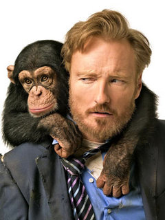Conan O´Brien (right) and friend.