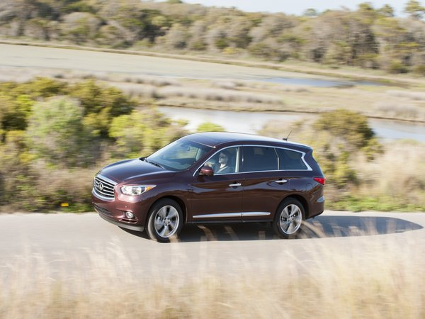 The 2014 Infiniti QX60, formerly known as the JX35, was renamed as Infiniti rebadged its lines of vehicles. (Nissan/Infiniti/MCT)