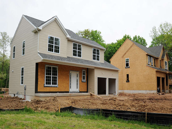Opportunities for new-home construction are limited in Upper Dublin, with projects mostly infills. The house at left on Catherine Street sold for $474,900. CLEM MURRAY / Staff Photographer )