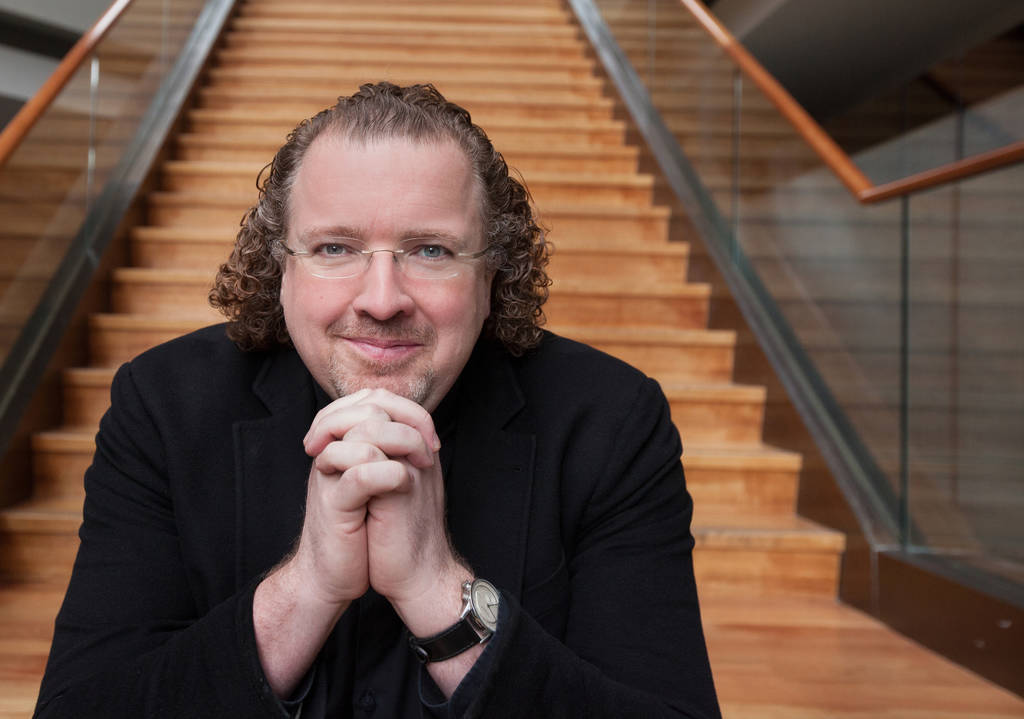 Stéphane Denève, who has risen this season to Philadelphia Orchestra principal guest conductor.  <br />