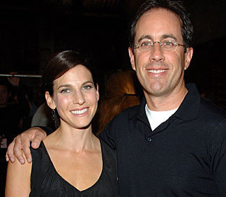 Jerry Seinfeld and his wife, Jessica.