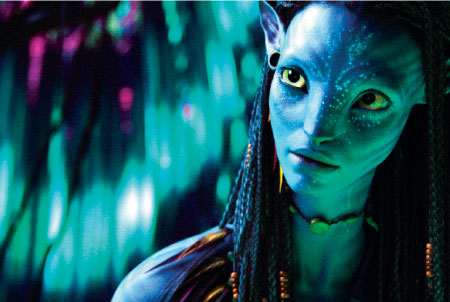 Zoe Saldana as Neytiri in Avatar: Acting or digital simulation?