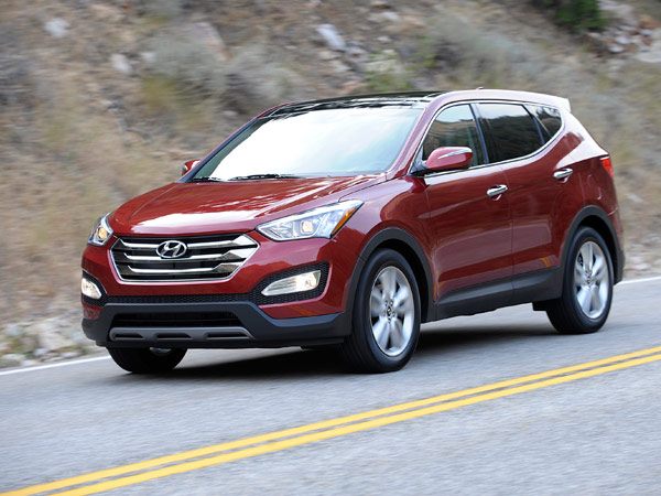 The 2013 Hyundai Santa Fe Sport is the five-passenger version of the redesigned crossover. (Courtesy of Hyundai/MCT)