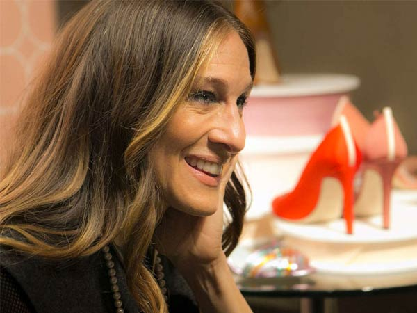 Sarah Jessica Parker, whose hit show went off the air 10 years ago, talks to fans and shoppers at Nordstrom in Seattle. She and Manolo Blahnik CEO George Malkemus III designed the shoe line.
