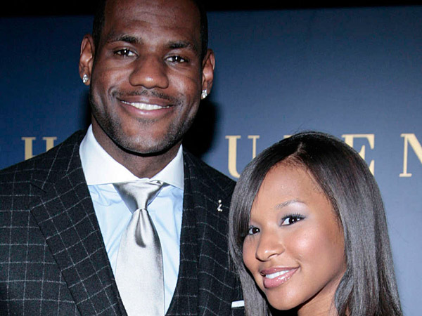 File photo: LeBron James and Savannah Brinson