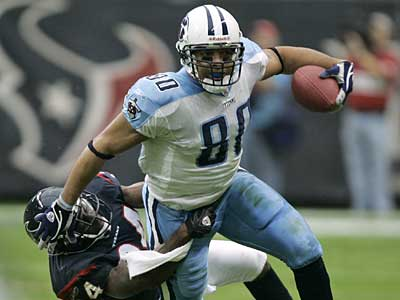 File photo of Bo Scaife of the Tennessee Titans.  Someone changed his Wikipedia entry to say he had been traded to the Eagles. (AP)