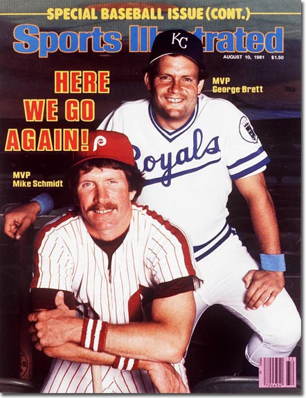 Mike Schmidt and George Brett on the Aug. 10, 1981, cover of Sports Illustrated