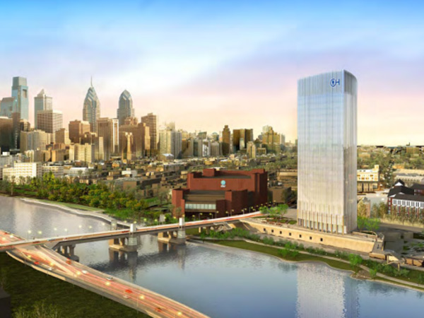 Children´s Hospital proposal for new research and office facility on the east side of the Schuylkill.