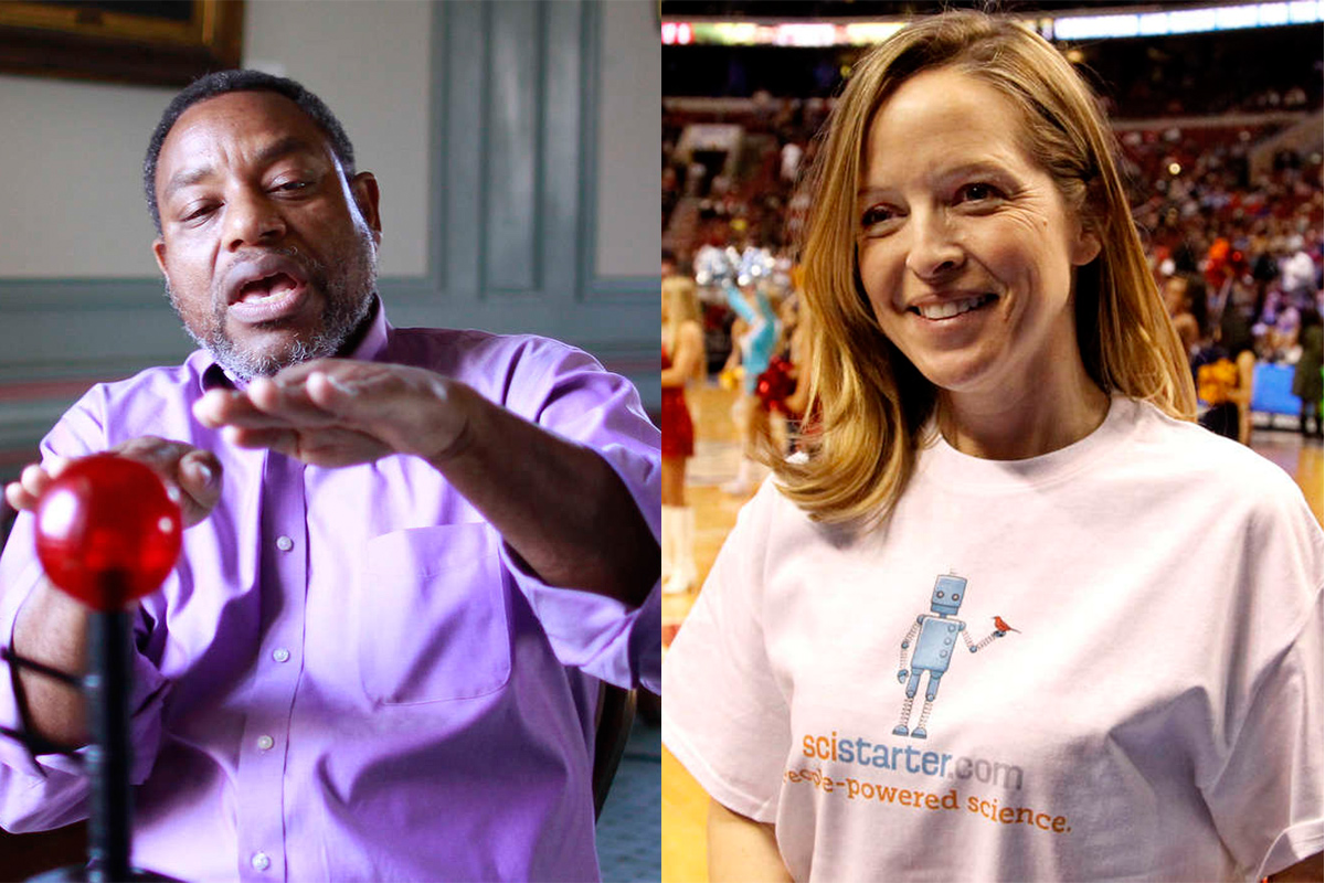 Derrick Pitts of the Franklin Institute and Darlene Cavalier of Science Cheerleaders are both scheduled to speak at the March For Science in Philadelphia, Saturday, April 22.
