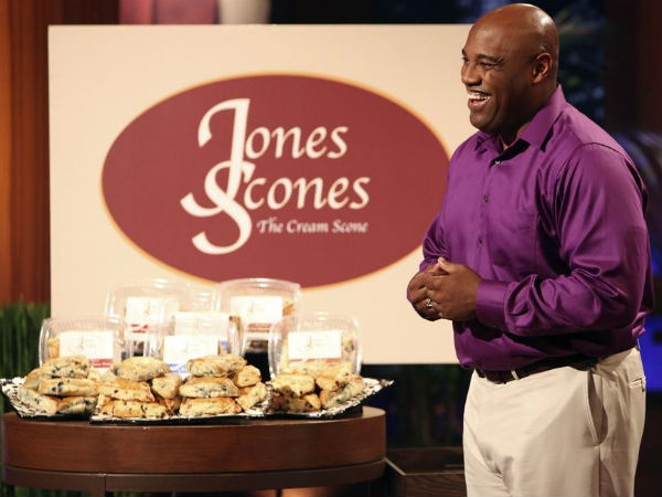 "The owner of Jones Scones of Aurora, Colo., tries to persuade the investors on ""Shark Tank"" that he´s perfected the English scone"