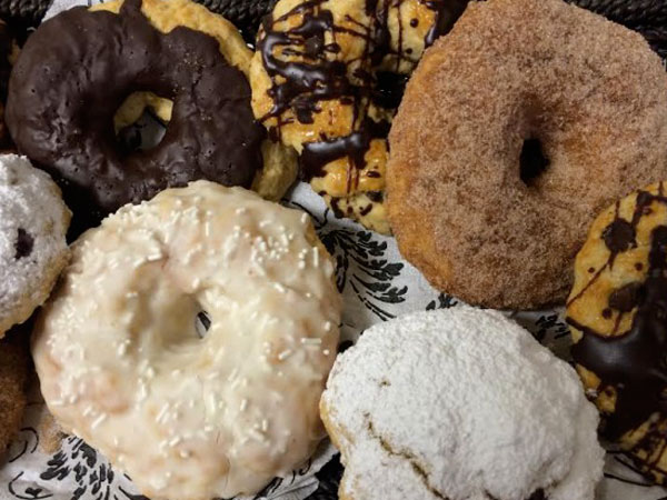 Sconuts from West Chester's Delightful Desserts and Culinary Creations.