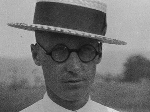 Photograph of teacher John Scopes taken one month before the Tennessee v. John T. Scopes Trial.