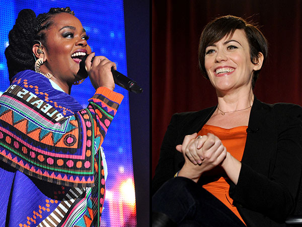 Singer Jill Scott (left) and actor Maggie Siff (AP photos)
