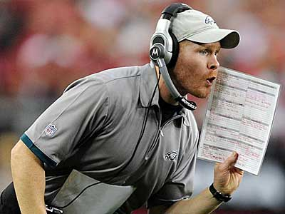 """""""As far as Sean McDermott, we have full confidence he can continue to lead this defense in his new role."""" said Andy Reid(Clem Murray / Staff Photographer)"""