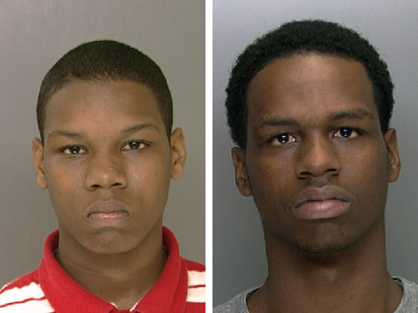 Police say brothers Eric Early (left) and Michael Early (right) are suspects in a shooting at the 46th Street SEPTA station.