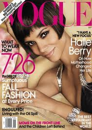 The September 2010 issue of Vogue Magazine with Halle Berry.