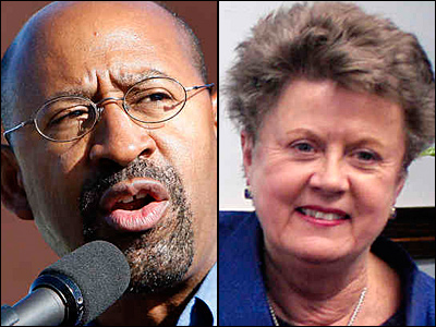 Mayor Nutter and Common Pleas Court President Judge Pam Dembe faced off over funding for the electronic monitoring of inmates released from city prisons.