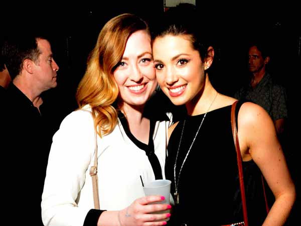 Lara Clemens and Lillian DiPlazza at Voyeur Nightclub. (Al B. For/ philly.com).