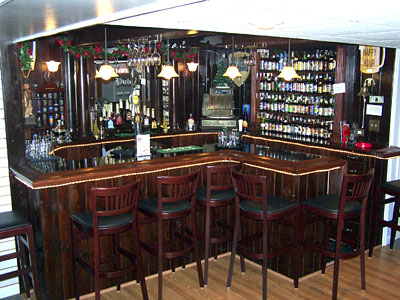John Rosborough´s home bar, called Penny Lane Pub, in Drexel Hill.