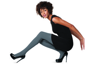 Photo courtesy of No Nonsense. We love these slate gray tight tights. So fresh, so cool, so modern.