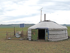 A Mongolia ger. (Photo by Robert Peck)