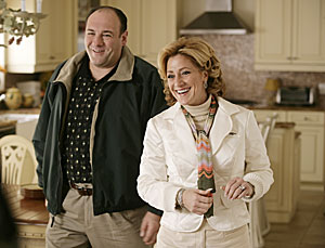 James Gandolfini and Edie Falco.