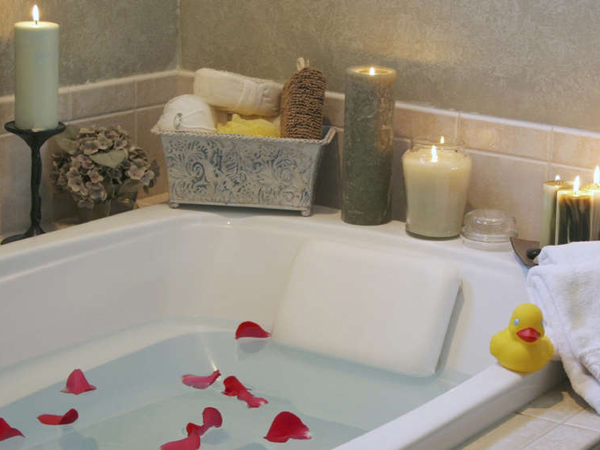 Create a relaxing home spa.