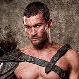 Andy Whitfield as the legendary warrior, Spartacus