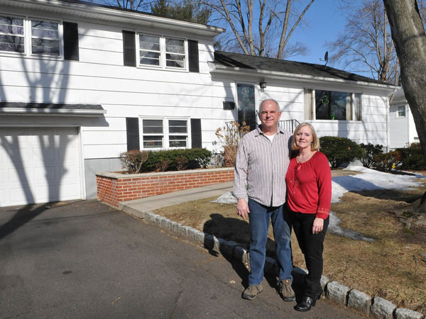 Large, open living and dining room spaces helped sell Bob and Gail Stamatopoulos on an expanded, 1950s split-level in Washington Township, N.J. (Don Smith/The Record/MCT)
