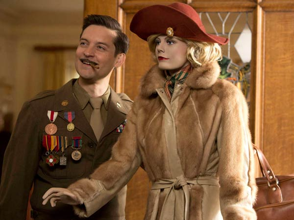 "Tobey Maguire and ""Lady Anne"" (voiced by Carey Mulligan) in ""The Spoils of Babylon,"" a six-hour spoof of mini-series that debuts Thursday on IFC."