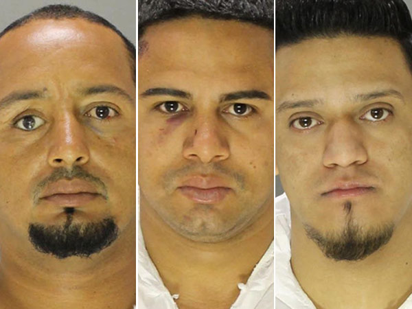 Three men were charged in the stabbing death of a North Philadelphia man. From left: Luis Mendoza, Darlin Menoza-Sanders, Ramon Turcios.