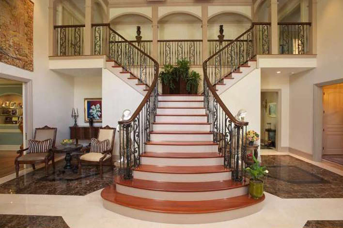 Entrance Foyer Circulation And Balcony In A House : For sale sensational staircases to make a grand entrance
