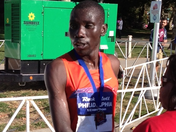 Stanley Biwott is a second-time winner of the Philadelphia Rock ´n´ Roll Half Marathon. (Robert J. Senior / Philly.com)